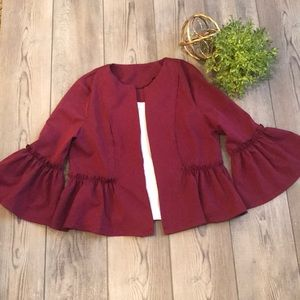 Jackets & Blazers - Bell Sleeve Blazer Jacket L